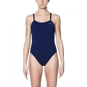 NWT NIKE PERFORMANCE POLY ONE-PIECE RACER SWIMSUIT